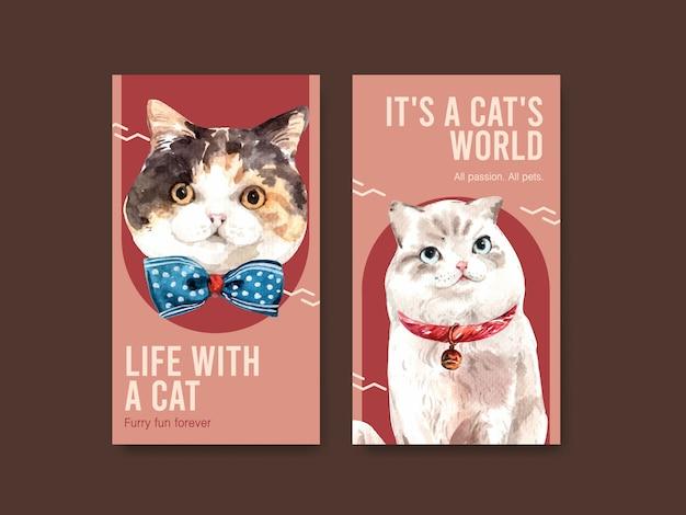 Шаблоны истории instagram с милыми кошками