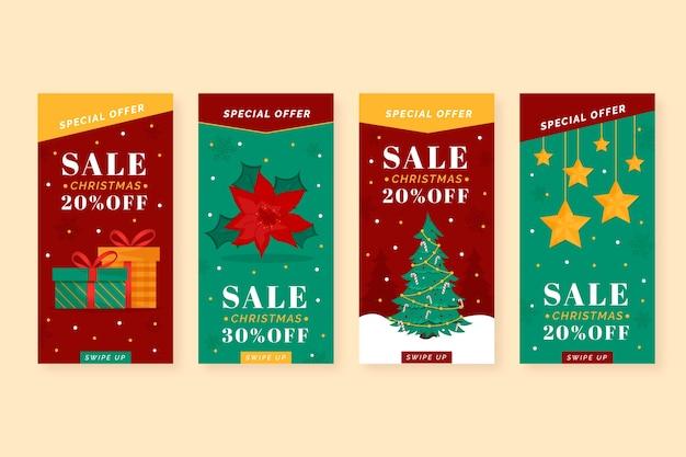 Коллекция рождественской распродажи instagram story