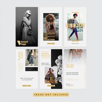 ゴールドファッションソーシャルメディアinstagram story