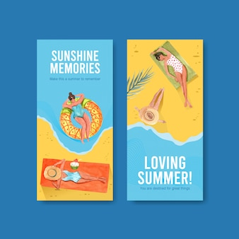 Instagram summer template