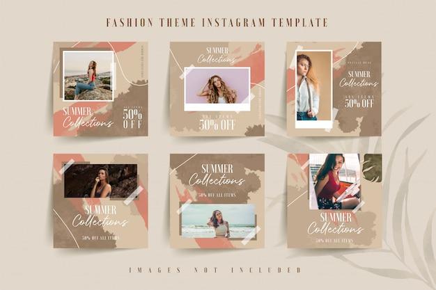 ファッション女性オンラインビジネスのinstagramテンプレート