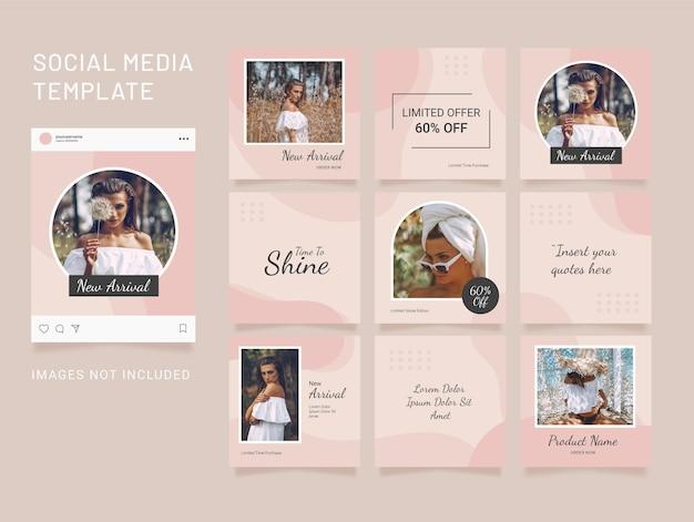 Instagram template puzzle fashion 소셜 미디어 피드