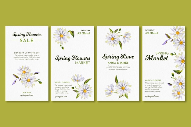 花と春のinstagram水彩物語コレクション