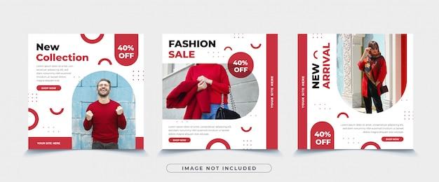 ファッションセールinstagramの投稿テンプレート
