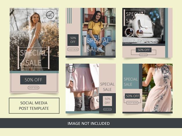 Шаблон поста продажи моды instagram