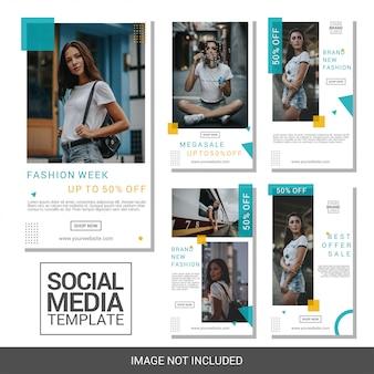 ファッションソーシャルメディアinstagramストーリーコレクションテンプレート