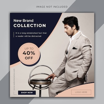 ファッション販売バナーの正方形サイズまたはinstagramの投稿