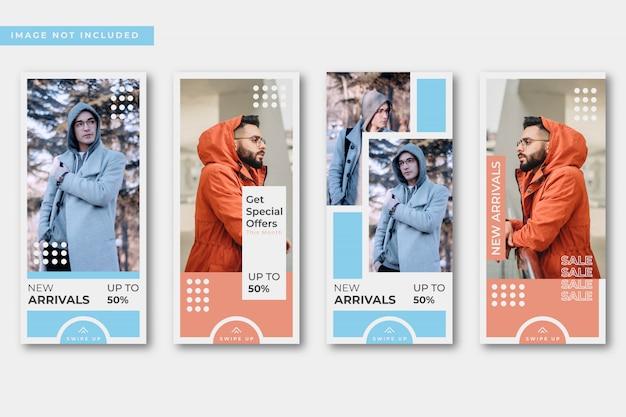 Абстрактная мода продажа instagram истории коллекции