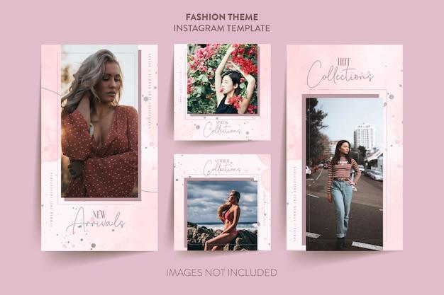ファッション女性instagramストーリーテンプレート
