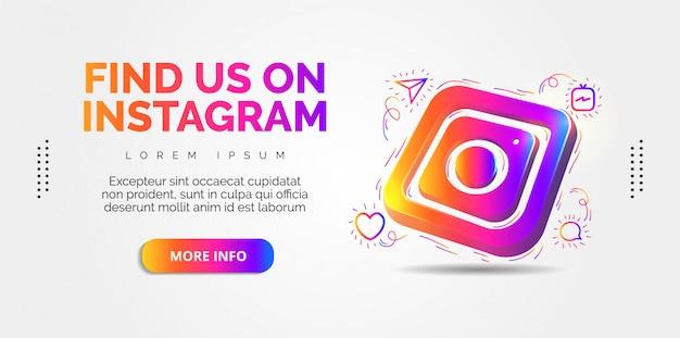 カラフルなデザインのinstagramソーシャルメディア。
