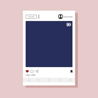 モバイルアプリ用のinstagramインターフェイステンプレート。
