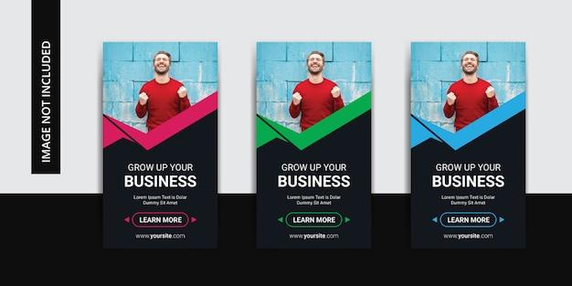 企業のビジネスinstagramストーリーテンプレートセット