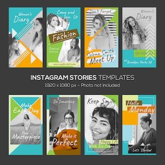 Шаблон instagram истории