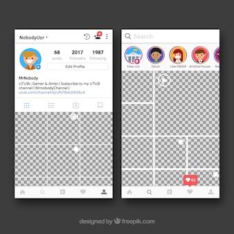 Рамка instagram с профилем