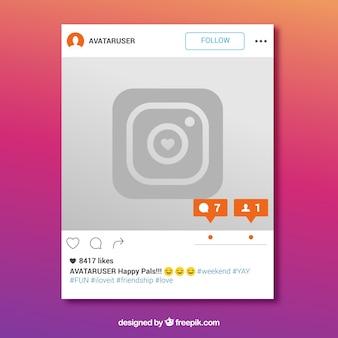 新しいメッセージを含むinstagramフレーム