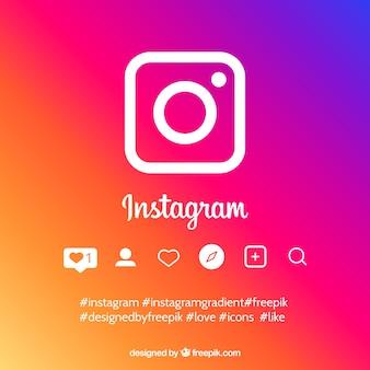 グラデーションカラーのinstagram背景