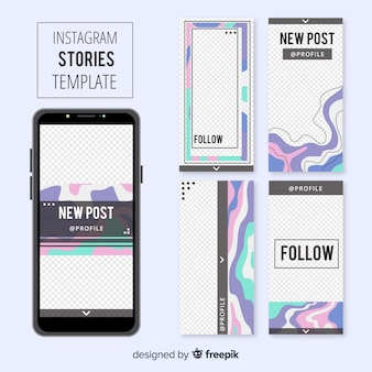 Шаблон истории из instagram