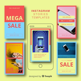 Красочные шаблоны историй instagram