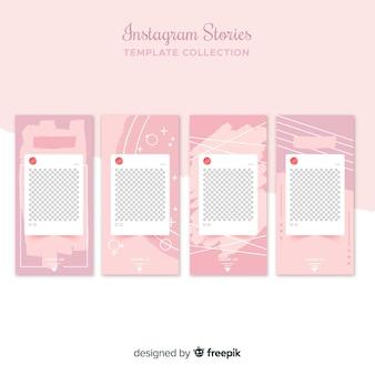 Шаблоны рассказов instagram с пустой рамкой