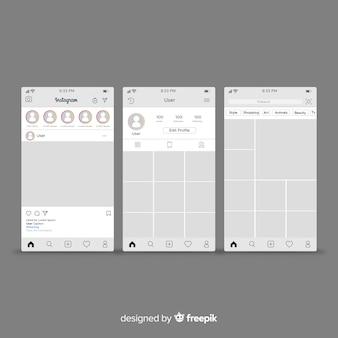 Пост в instagram и шаблон профиля