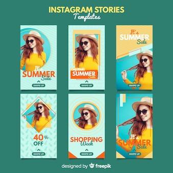 サマーセールinstagramストーリーテンプレート