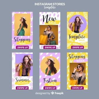 Шаблоны рассказов instagram