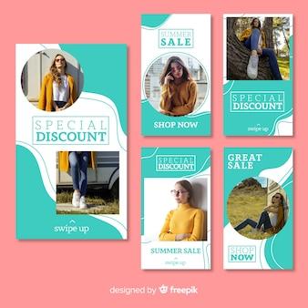 ファッション販売instagramストーリーコレクション