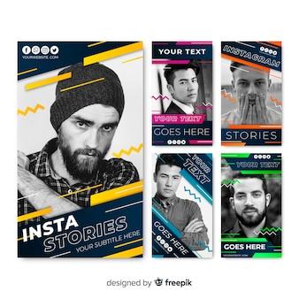 Шаблон рассказов абстрактный instagram