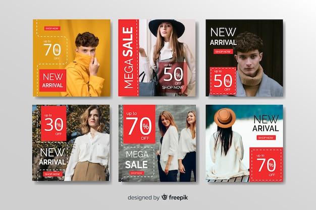 Абстрактная мода продажа instagram пост коллекция
