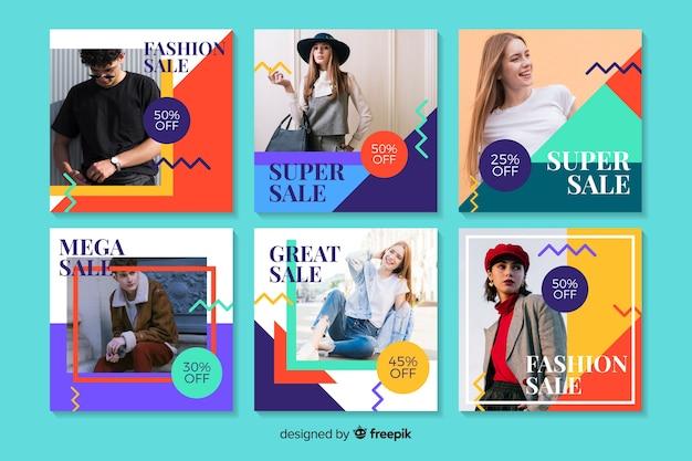 写真と抽象的な販売instagram投稿コレクション
