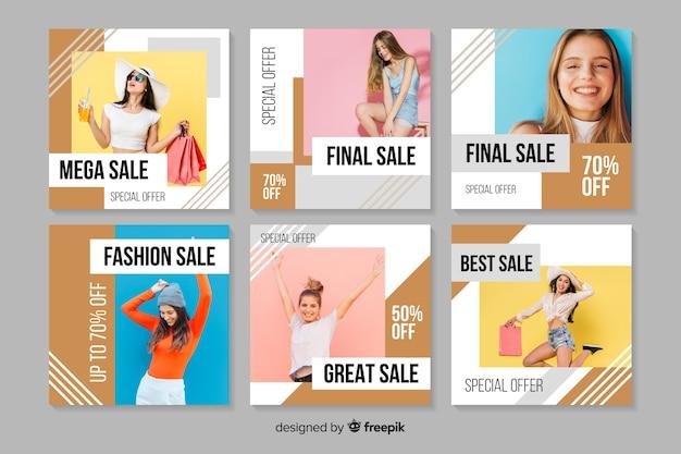 抽象的なファッション販売instagram投稿コレクション