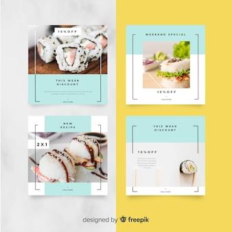 写真付き料理用instagramポストコレクション