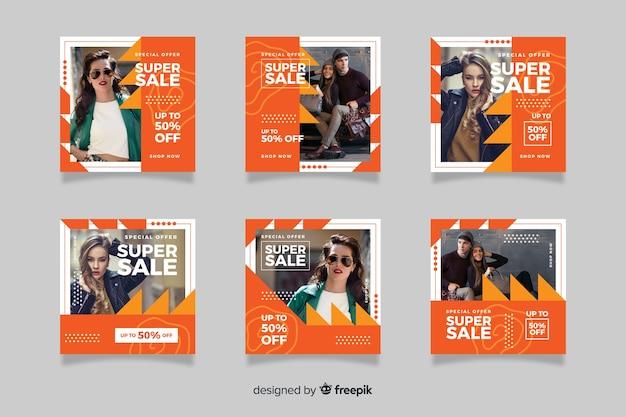 Мода продажа абстрактных instagram пост набор