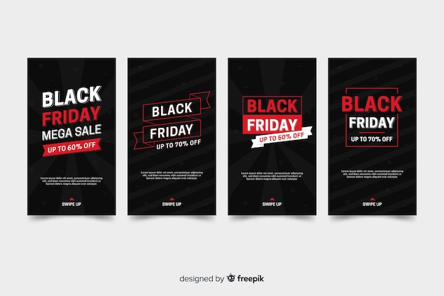 Черная пятница коллекция рассказов instagram с красной информацией