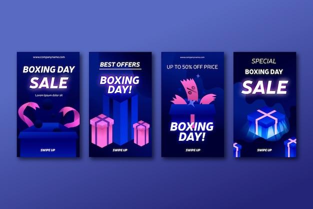 ボクシングデーセールinstagramストーリーコレクション