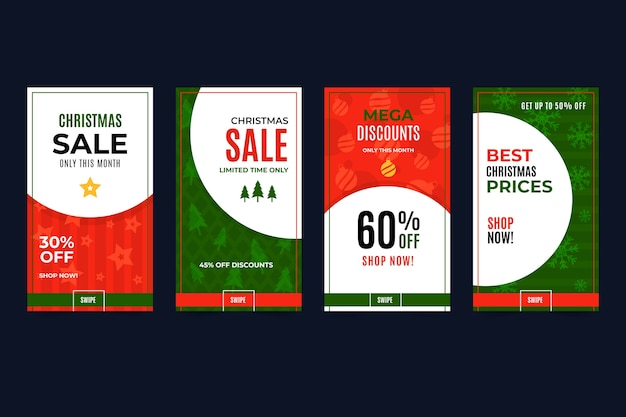 クリスマスセールinstagramストーリーコレクション