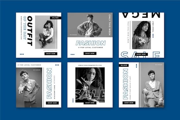 古典的な青い色のinstagramのポストコレクション