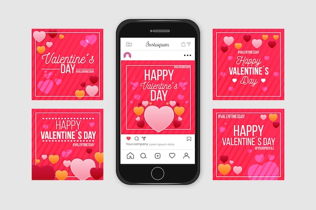 День святого валентина instagram коллекция сообщений