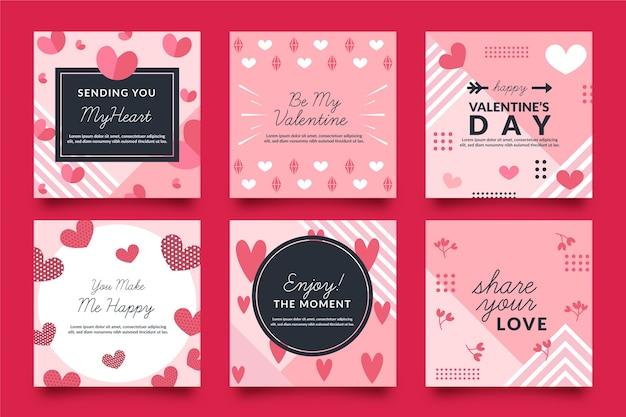 バレンタインデーinstagramポストセット