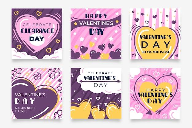 バレンタインデーセールinstagramポストのパック