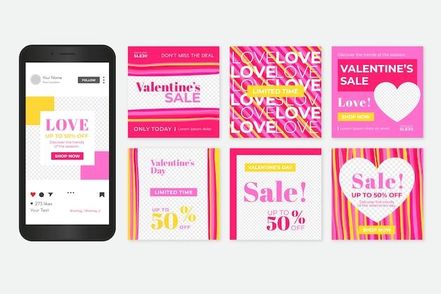 День святого валентина продажа instagram почтовый пакет