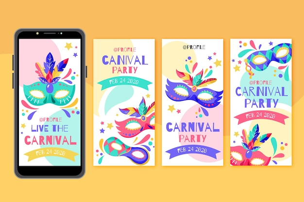カーニバルパーティーinstagramストーリーコレクション