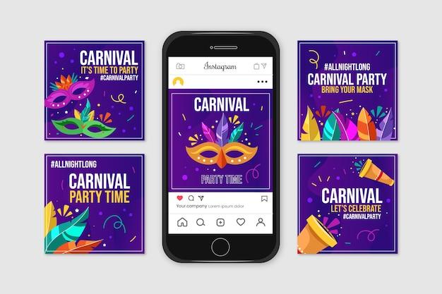 Пост-коллекция карнавальных вечеринок в instagram