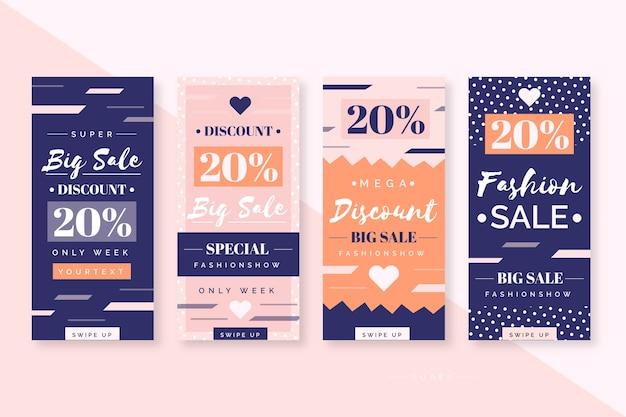 Абстрактные красочные истории продажи instagram
