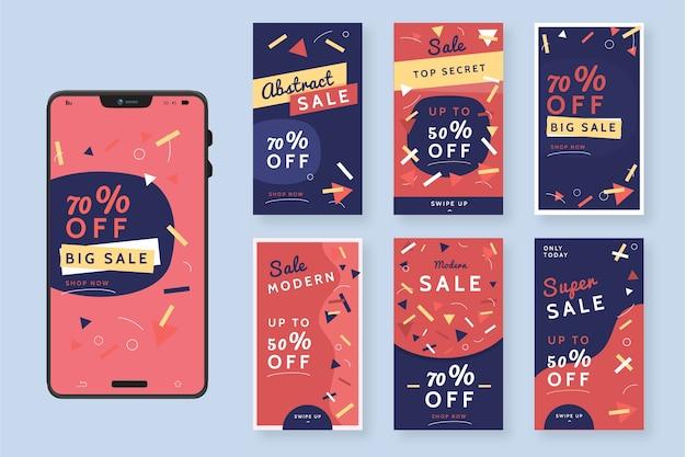 抽象的なカラフルなinstagramの販売ストーリー