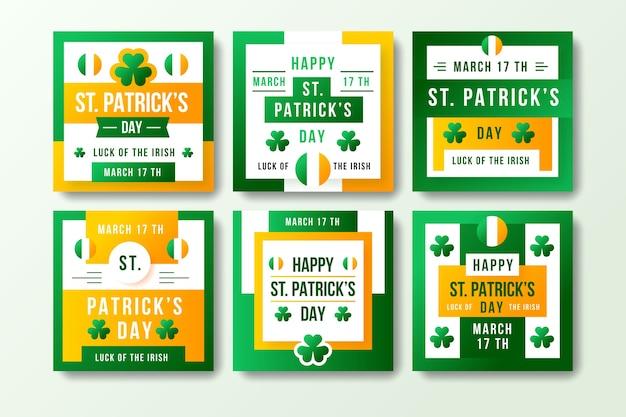 Дизайн коллекции постов instagram день святого патрика