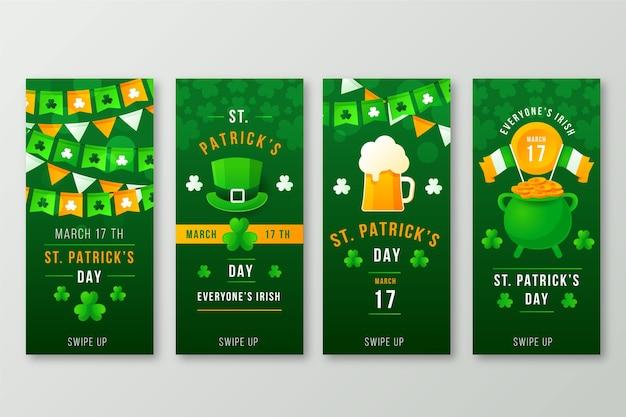 聖パトリックの日instagramストーリーコレクション