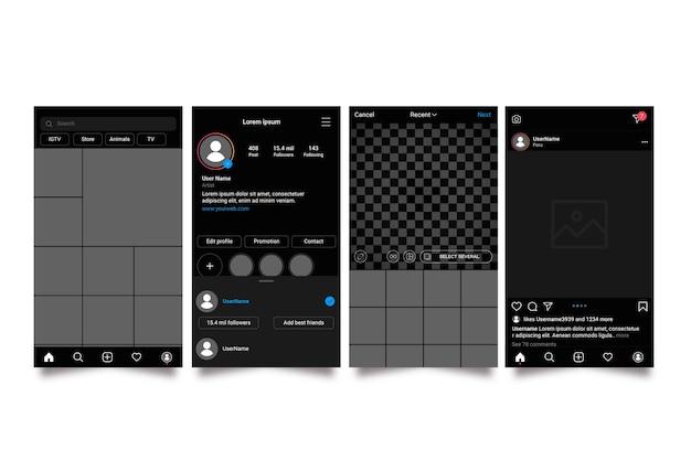 Шаблон интерфейса для instagram-историй