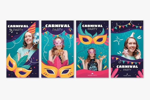 Коллекция историй карнавальных вечеринок в instagram