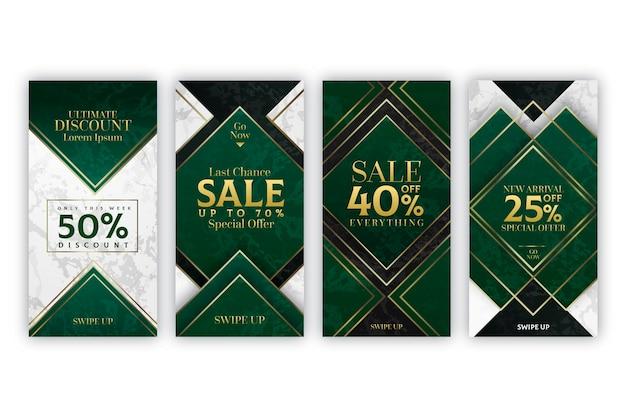 大理石スタイルの販売instagramストーリーコレクション